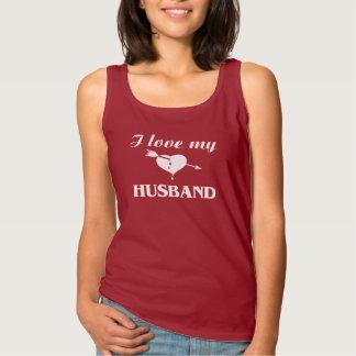I Love My Husband Basic Tank Top