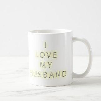 I Love My Husband (Black) Coffee Mug