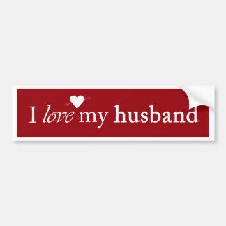 I Love My Husband Bumper Sticker