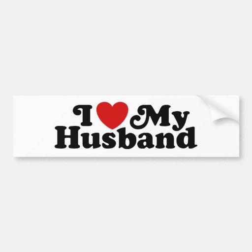 I Love My Husband Bumper Stickers