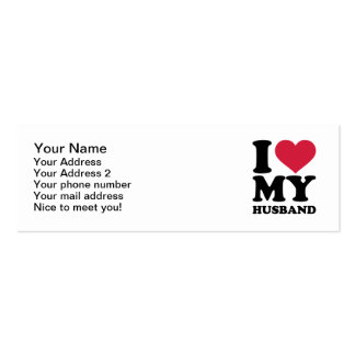 I love my husband Double-Sided mini business cards (Pack of 20)