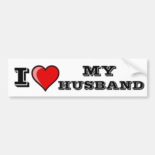 I Love My Husband Car Bumper Sticker