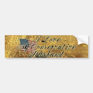 I Love My Husband Conservative Bumper Sticker