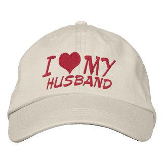 I Love My Husband Embroidered Hats