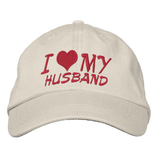 I Love My Husband Embroidered Hats
