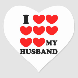 I Love My Husband Heart Sticker