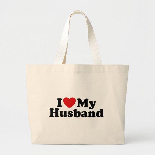 I Love My Husband Jumbo Tote Bag