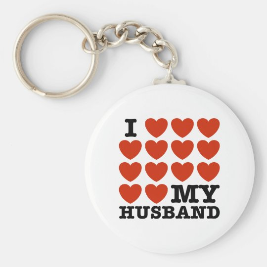 I Love My Husband Keychain