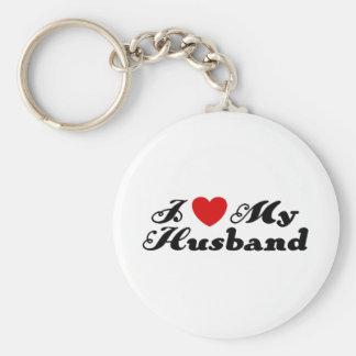I Love My Husband Keychain