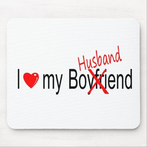 I Love My Husband Mouse Mat