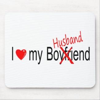 I Love My Husband Mouse Pad
