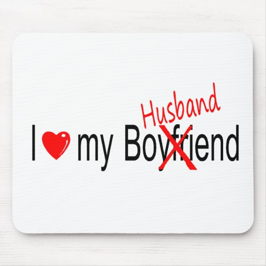 I Love My Husband Mouse Pad