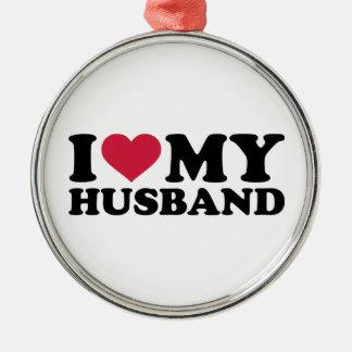 I love my husband christmas tree ornament