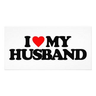 I LOVE MY HUSBAND CUSTOMIZED PHOTO CARD