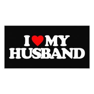 I LOVE MY HUSBAND CUSTOM PHOTO CARD
