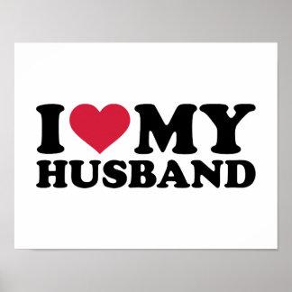 I love my husband posters