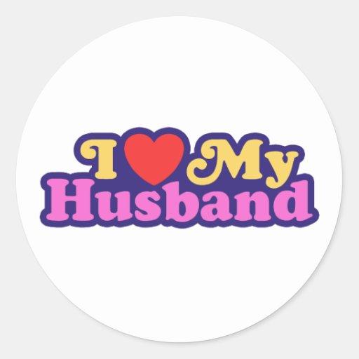 I Love My Husband Sticker