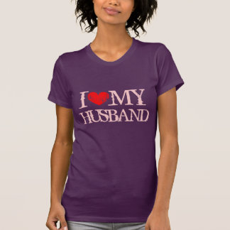 I love my husband t shirt for wife   Pink I heart