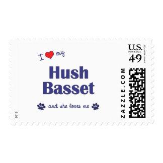 I Love My Hush Basset (Female Dog) Stamps