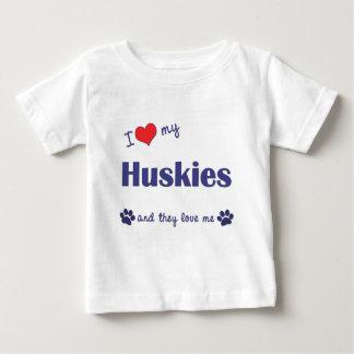 I Love My Huskies (Multiple Dogs) Tee Shirt
