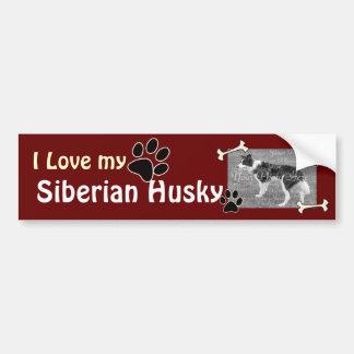 I love my Husky Bumper Sticker