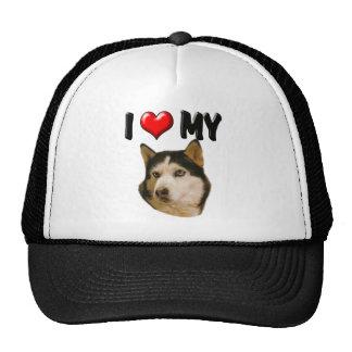 I Love My Husky Hat
