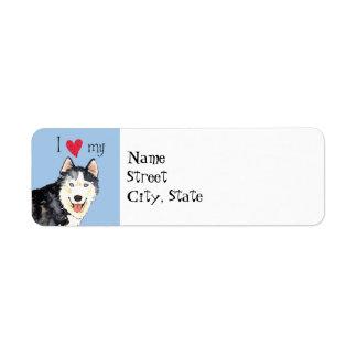 I Love my Husky Label