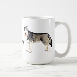 I Love my Husky Classic White Coffee Mug