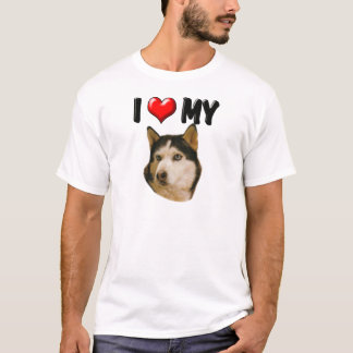 I Love My Husky T-Shirt