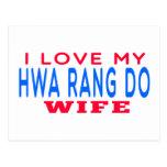 I Love My Hwa Rang Do Wife Postcard