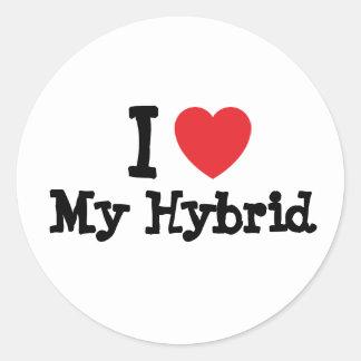 I love My Hybrid heart custom personalized Stickers