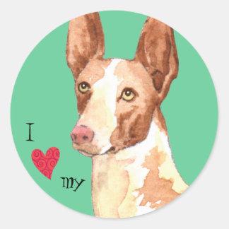 I Love my Ibizan Hound Classic Round Sticker