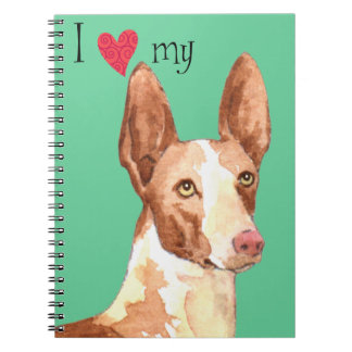 I Love my Ibizan Hound Notebook