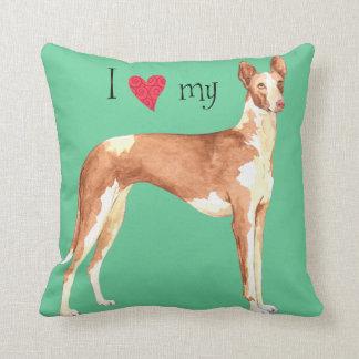 I Love my Ibizan Hound Pillows