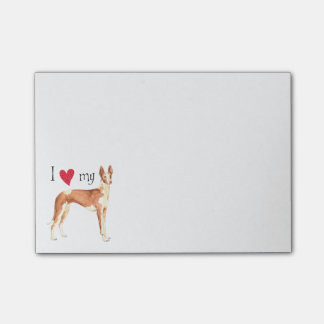 I Love my Ibizan Hound Post-it® Notes