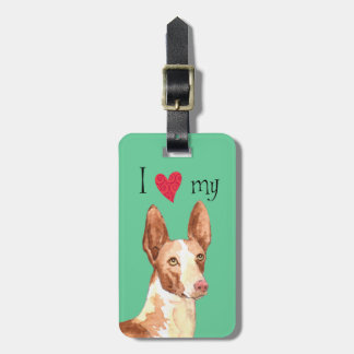 I Love my Ibizan Hound Tag For Bags