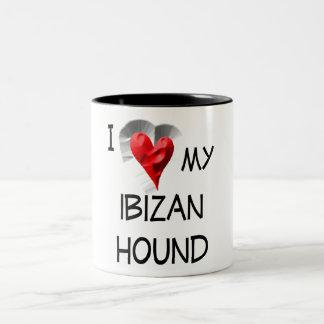 I Love My Ibizan Hound Two-Tone Coffee Mug