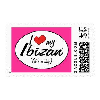 I Love My Ibizan (It's a Dog) Postage