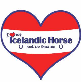 I Love My Icelandic Horse (Female Horse) Cutout