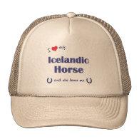 I Love My Icelandic Horse (Female Horse) Trucker Hat