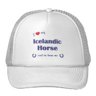 I Love My Icelandic Horse (Male Horse) Trucker Hats