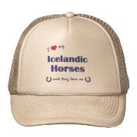 I Love My Icelandic Horses (Multiple Horses) Hats