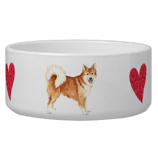 I Love my Icelandic Sheepdog Bowl