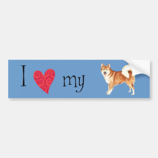 I Love my Icelandic Sheepdog Bumper Sticker
