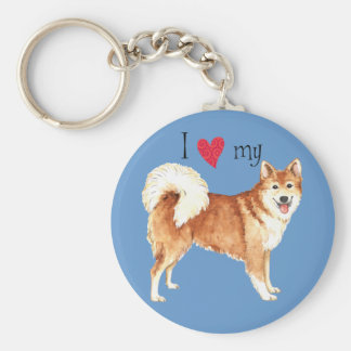 I Love my Icelandic Sheepdog Keychain