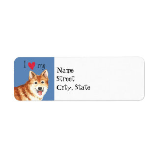 I Love my Icelandic Sheepdog Label