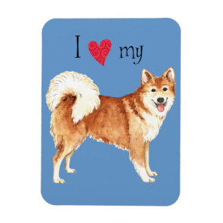 I Love my Icelandic Sheepdog Magnet