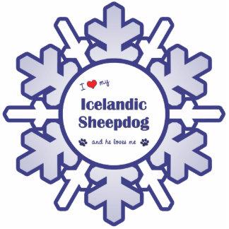 I Love My Icelandic Sheepdog (Male Dog) Cutout