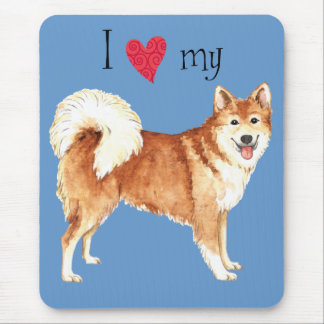 I Love my Icelandic Sheepdog Mouse Pad