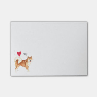 I Love my Icelandic Sheepdog Post-it® Notes